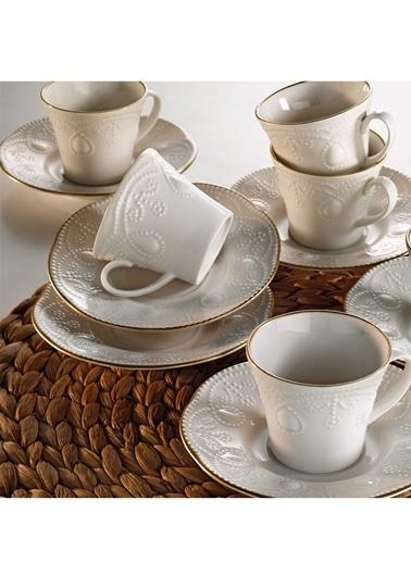 Kütahya Porselen Fulya  6 Kişilik Kahve Fincan Tk. Renksiz
